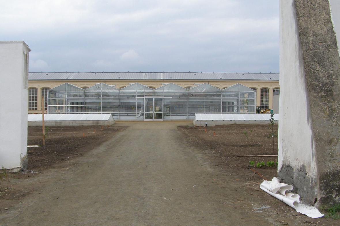 Pěstební skleník v Květné zahradě v Kroměříži