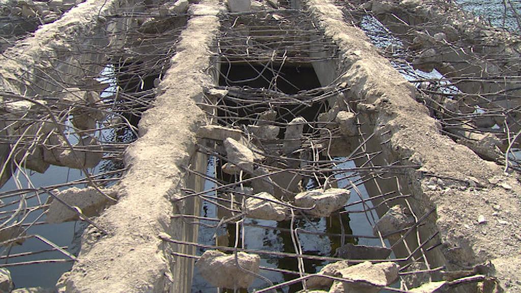 Demolice mostu v Železném Brodě