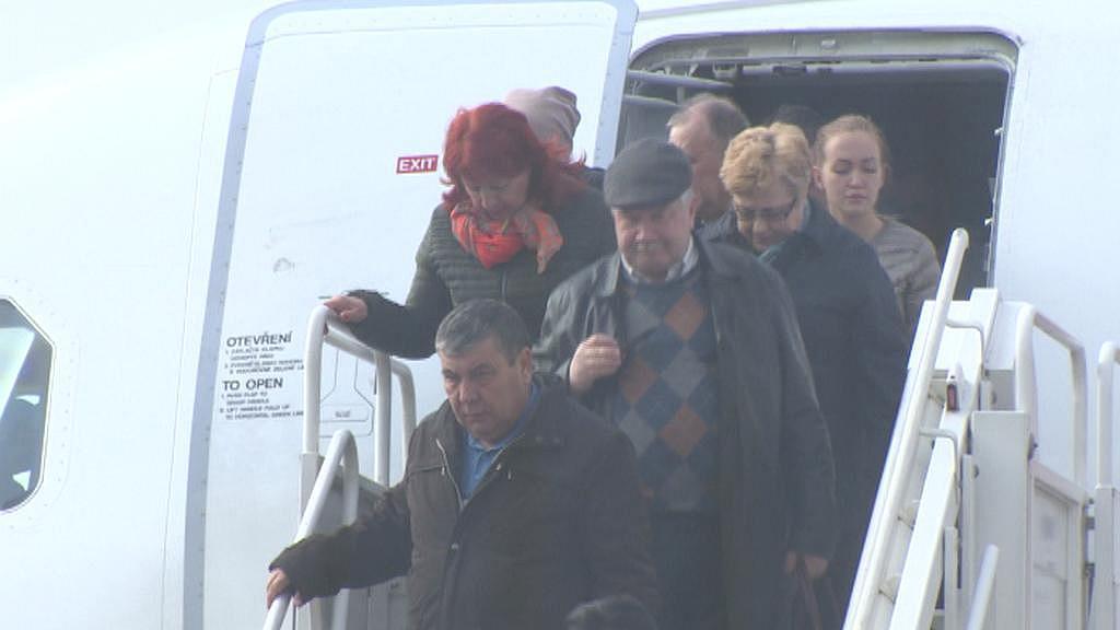 Cestující na Letišti Karlovy Vary
