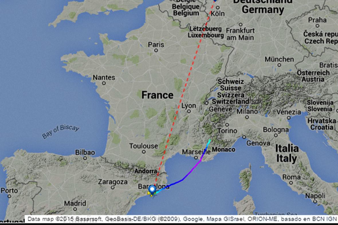 Trasa letadla Airbus 320