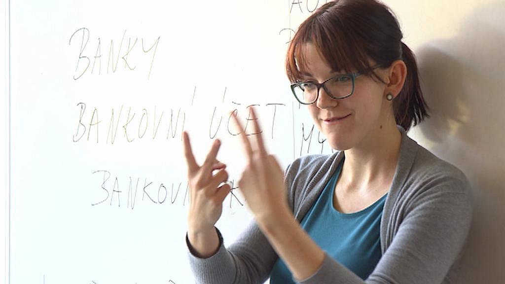 Tlumočnice znakového jazyka