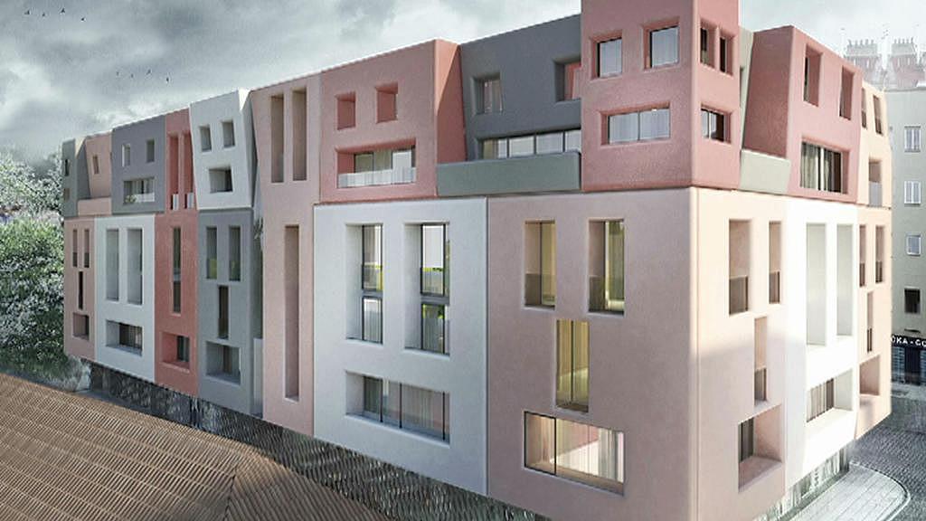 Vizualizace nové budovy v ulici U Milosrdných