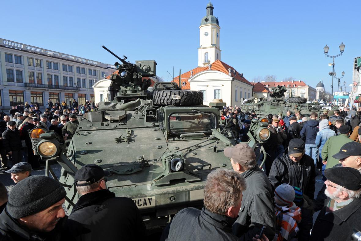 Americký konvoj v polském Bělostoku