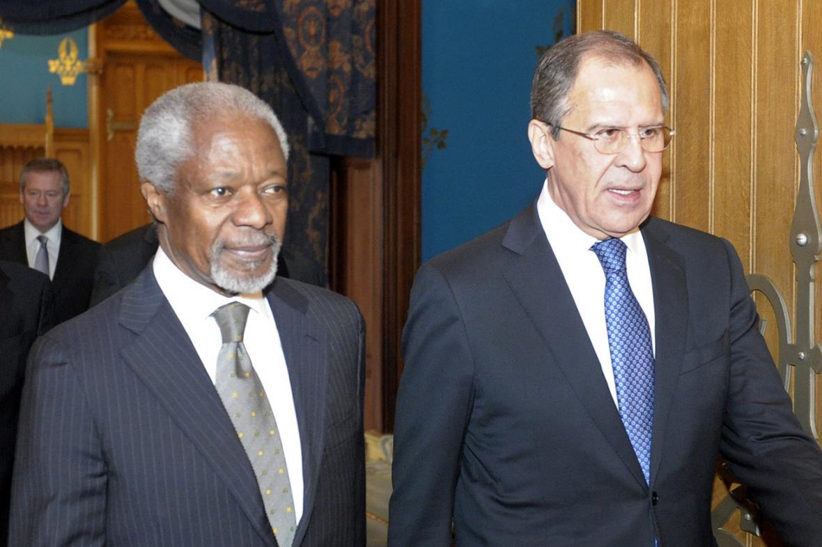 Kofi Annan a Sergej Lavrov