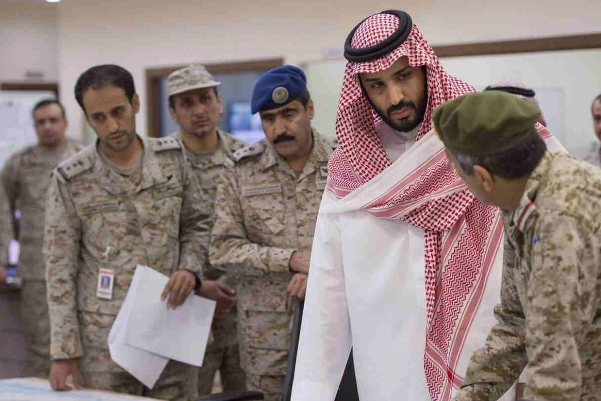 Saúdský ministr obrany konzultuje operace v Jemenu