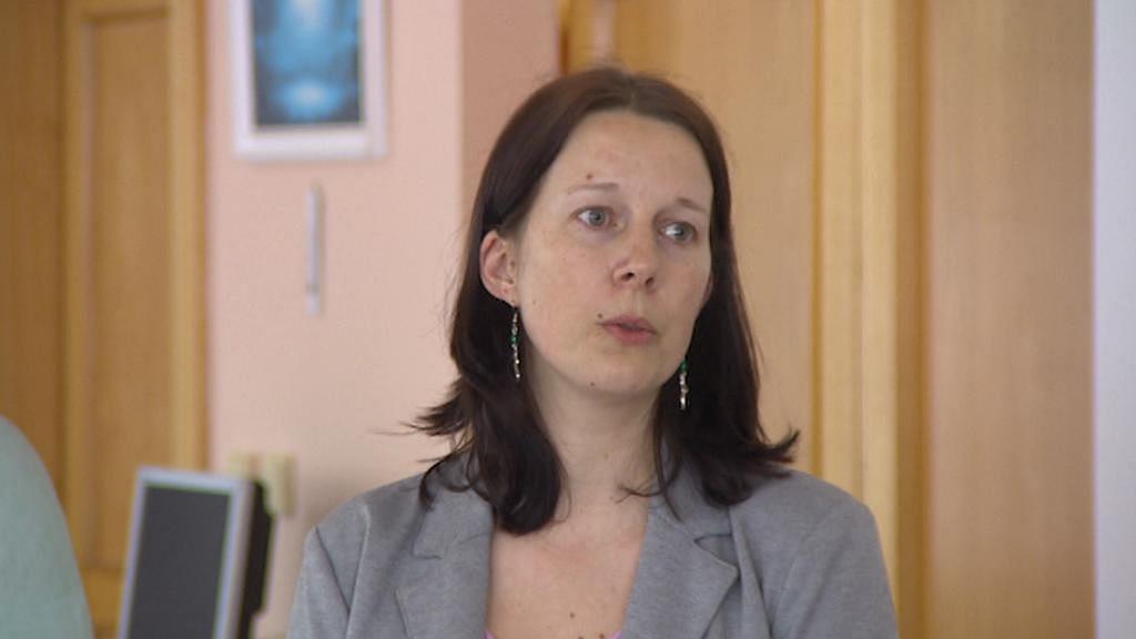 Nová starostka Semil Lena Mlejnková na setkání se zaměstnanci nemocnice