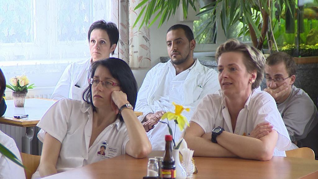 Zaměstnanci semilské nemocnice