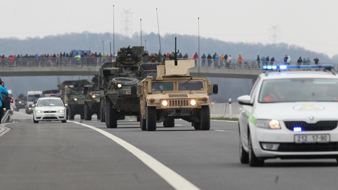 Americký konvoj u Bohumína