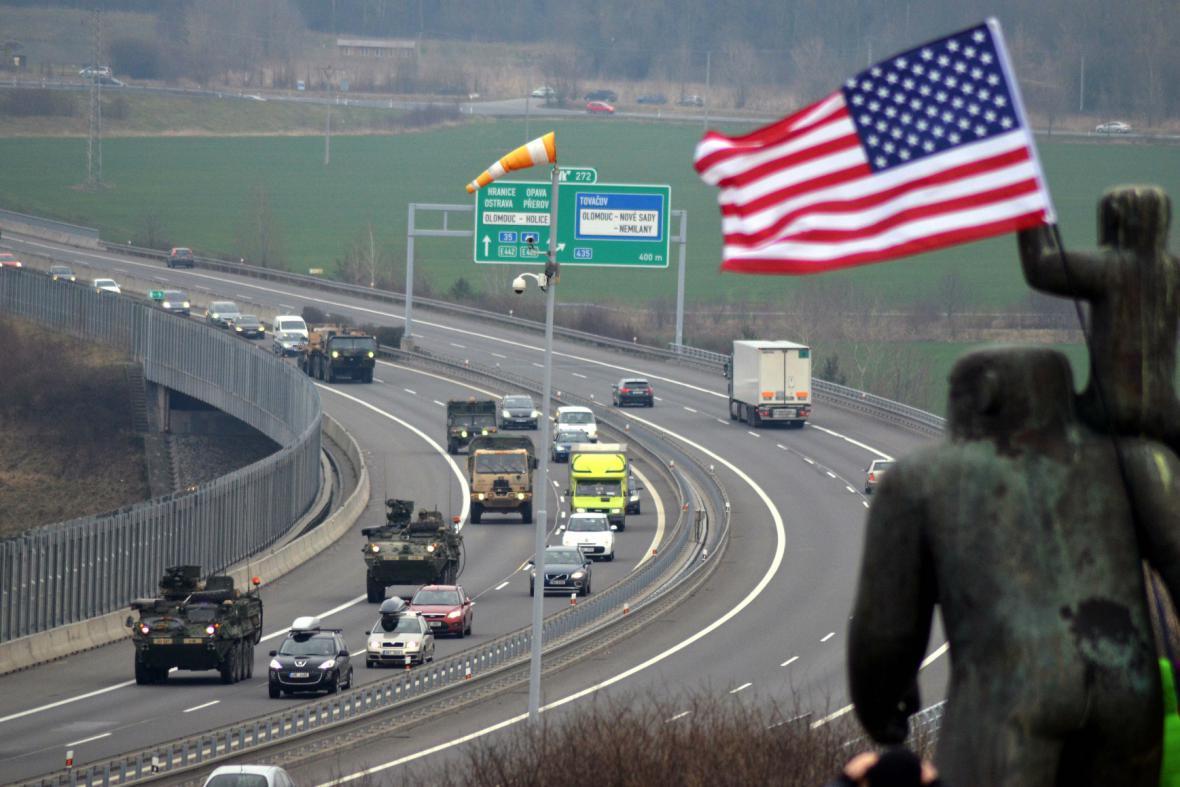 Americký konvoj na Olomoucku