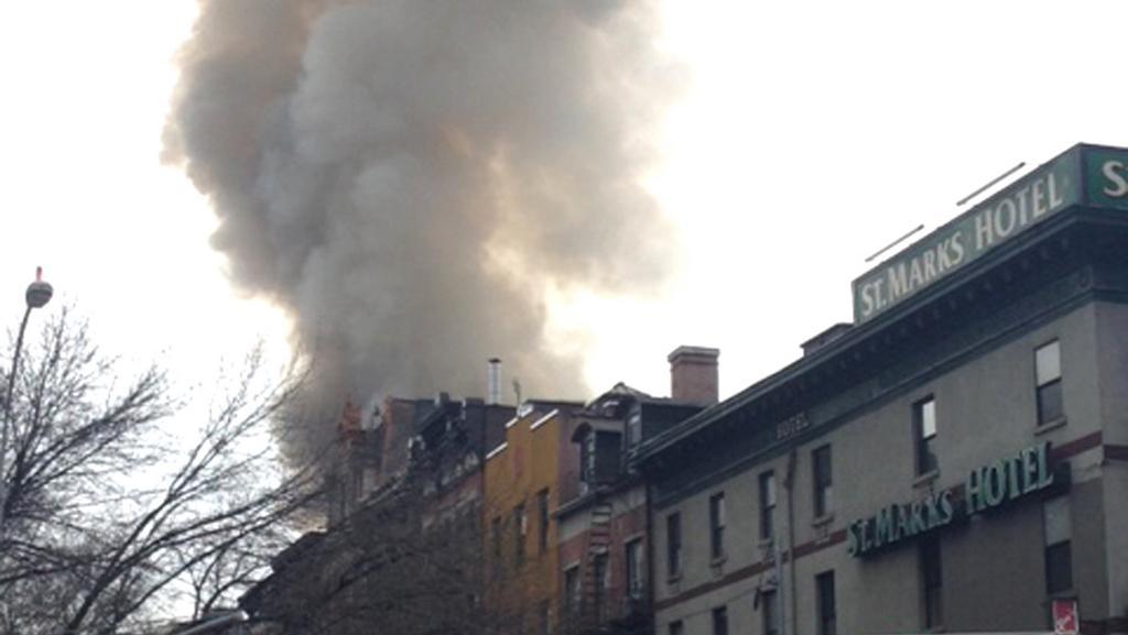 Plameny nad čtvrtí East Village