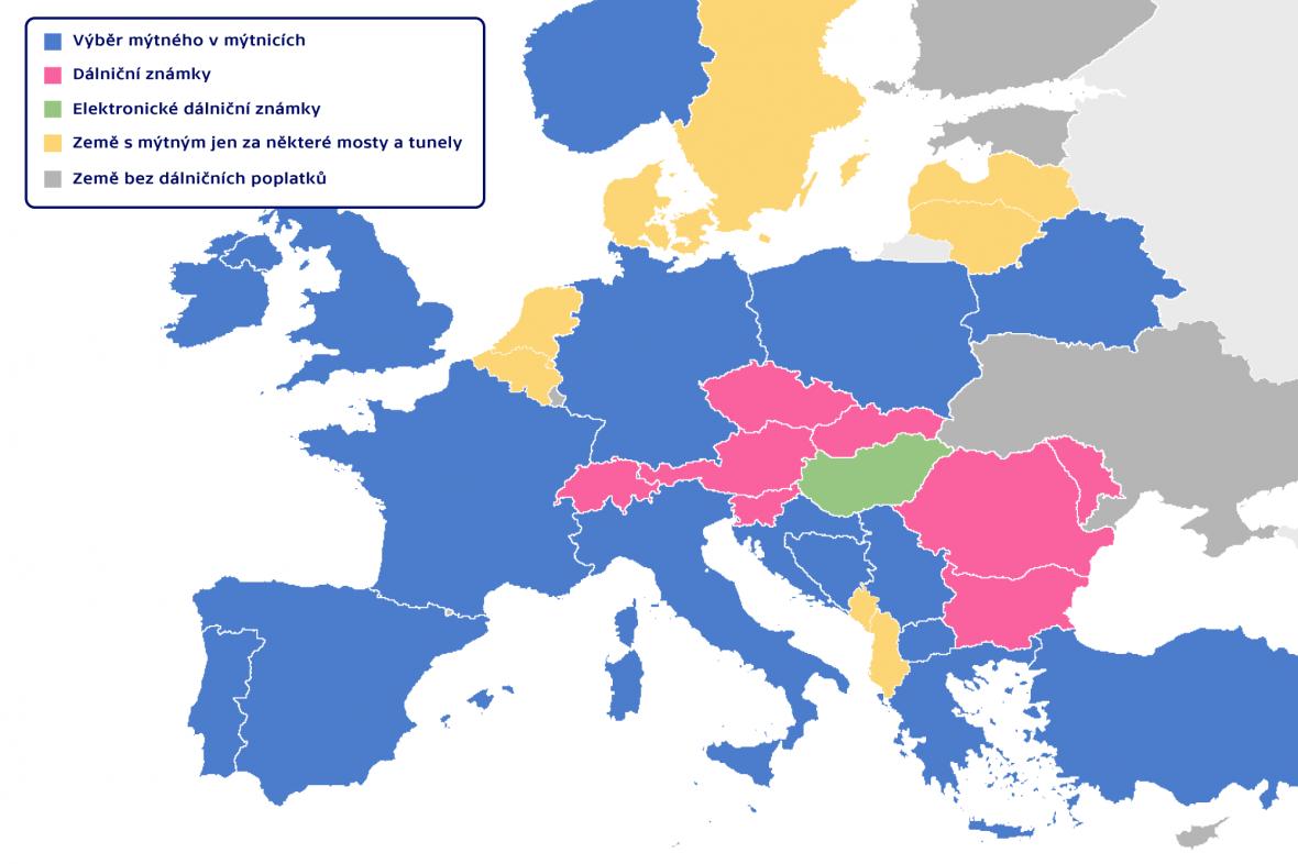 Systém výběru dálničních poplatků v Evropě