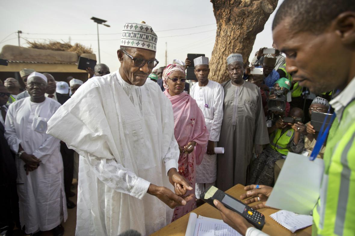 Opoziční kandidát Muhammadu Buhari