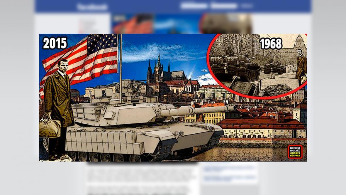"""Akce """"Zastavíme americký konvoj"""", která odmítá průjezd kolony Českem"""