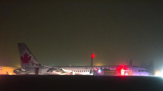 Letadlo Air Canada skončilo mimo dráhu