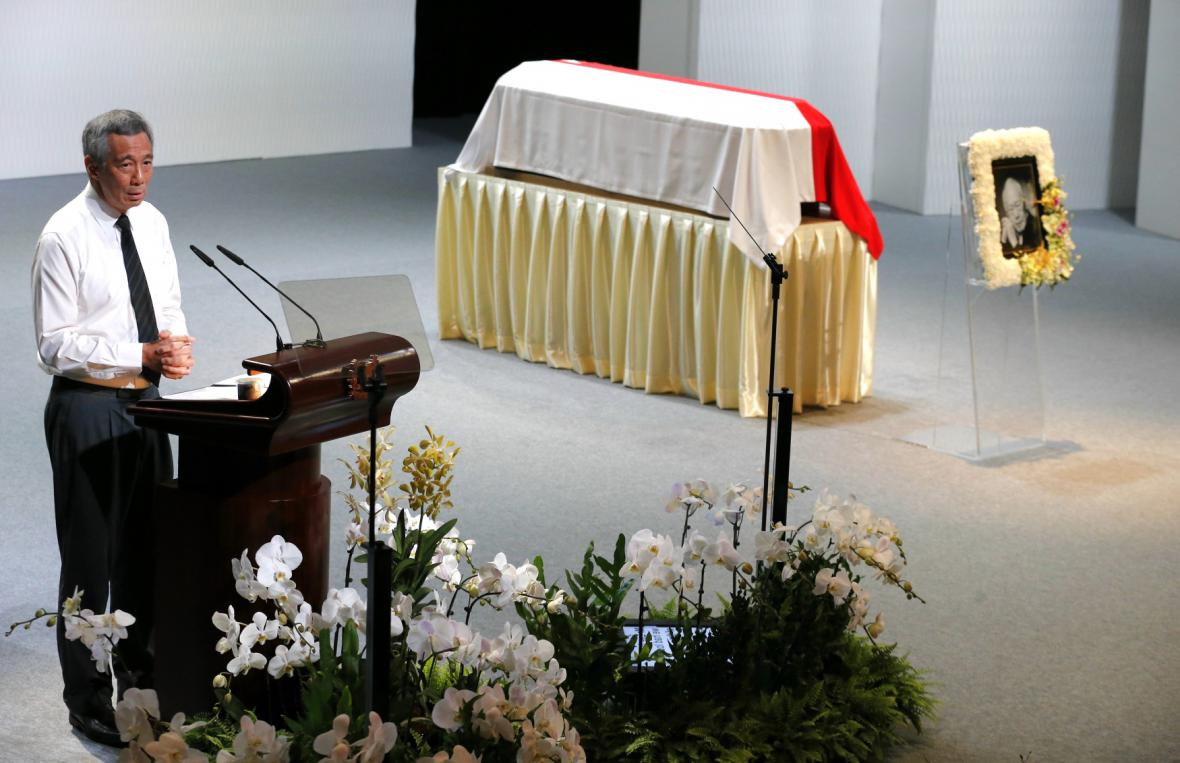 Pohřeb premiéra Lee Kuan Yewa