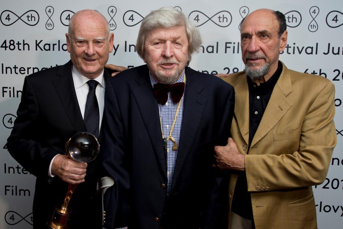Zleva: Theodor Pištěk, Miroslav Ondříček a Fahrid Murray Abraham