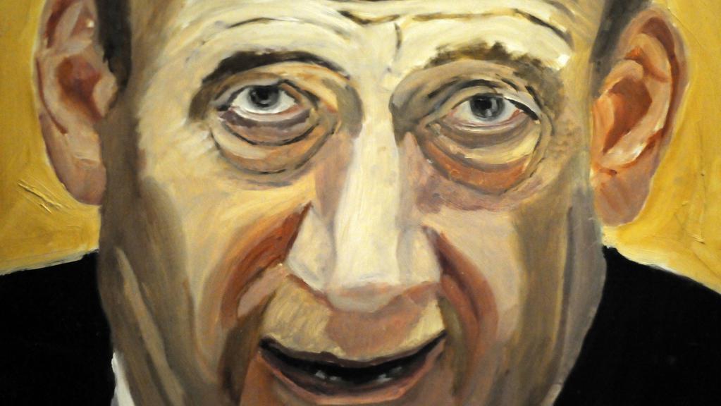 Portrét bývalého izraelského premiéra
