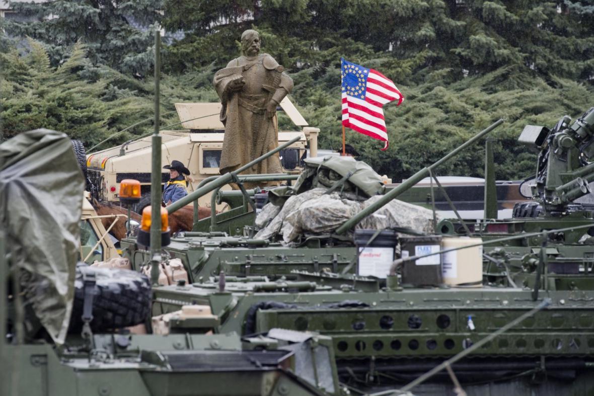 Americký konvoj v Praze