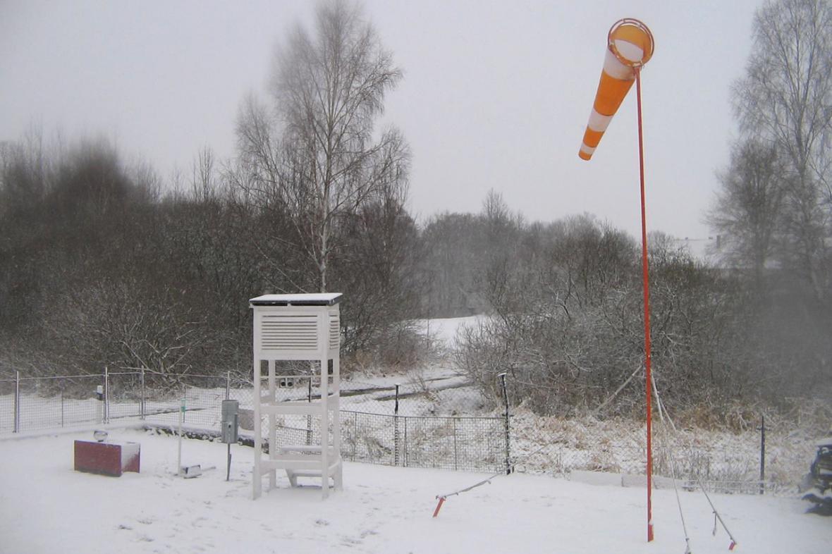 Ranní sníh na Jihlavsku