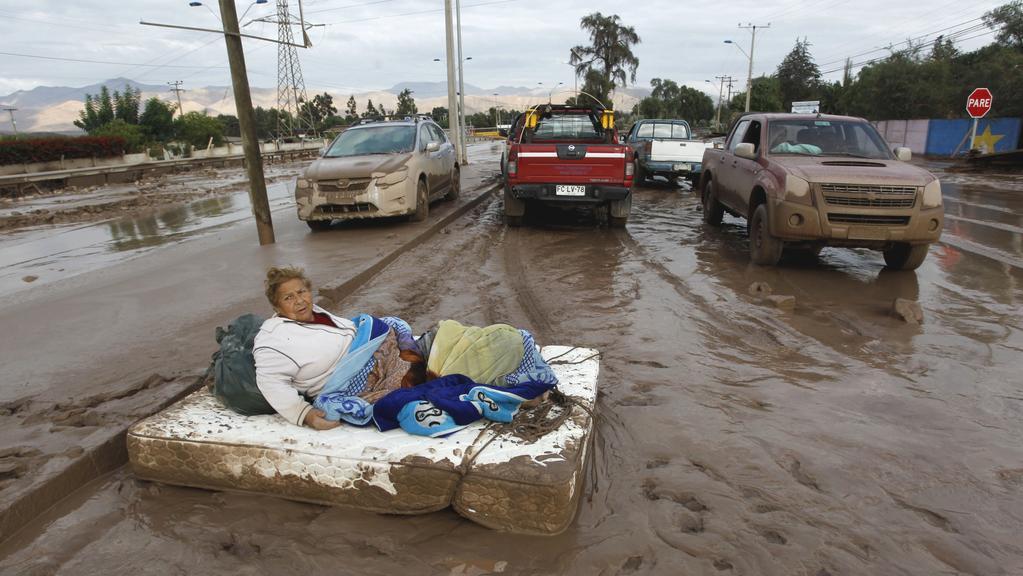 Následky povodní na severu Chile