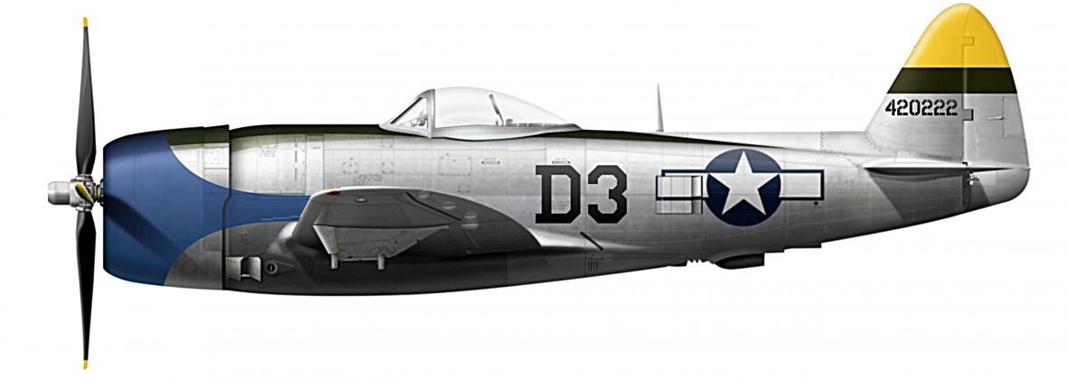 Thunderbolt P-47D 44-20222 s nímž letěl John H. Banks
