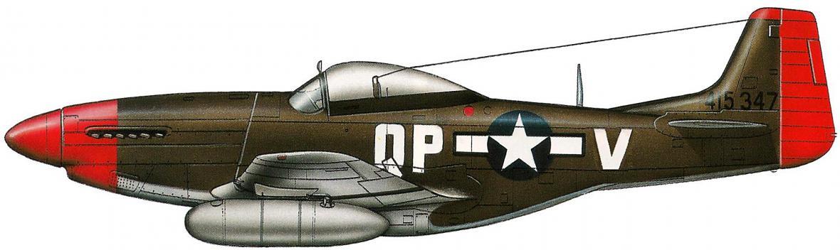 P-51 D Mustang 44-15347 1/Lt Williama B. Hoellschera