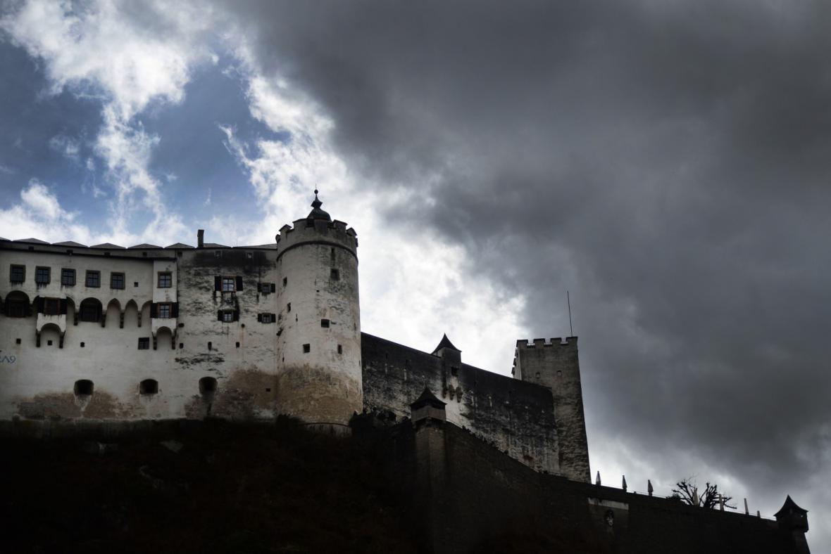 Bouře v rakouském Salzburku