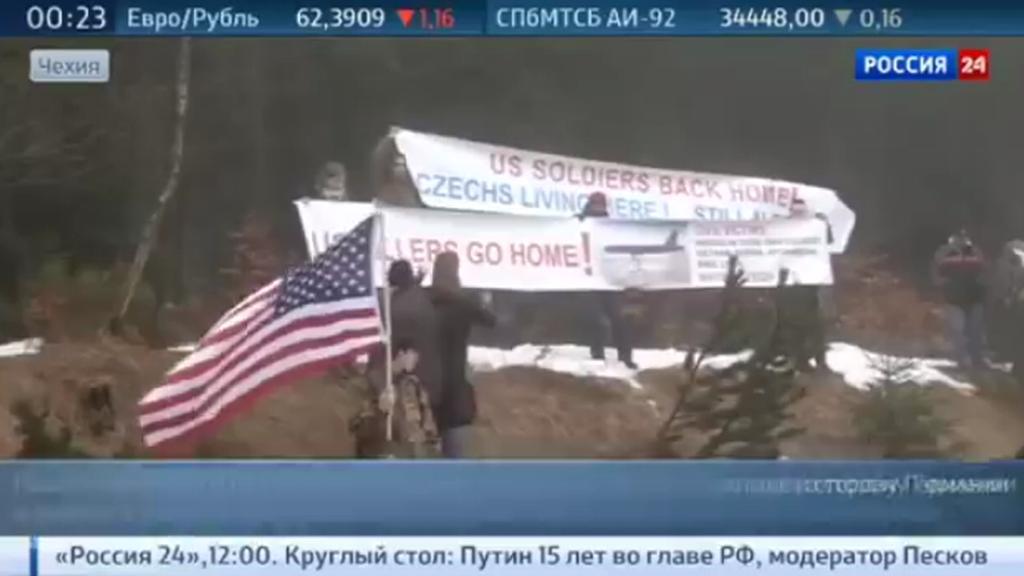 Záběry ruských zpravodajských stanic