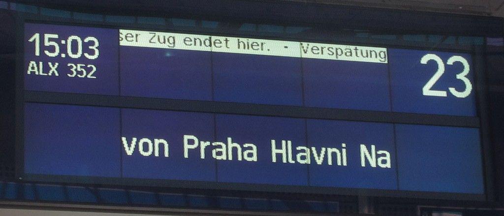 Vlak z Prahy