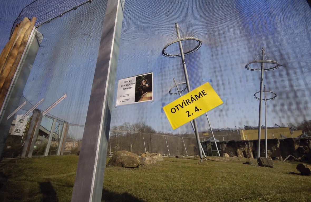 Výběh pro šimpanze v ostravské zoo