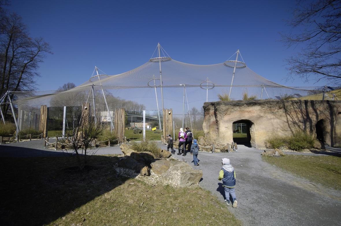 Výběh Pavilonu Evoluce v ostravské zoo