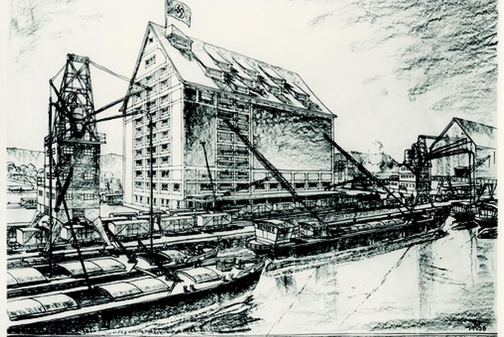 Dostavba přístavu Alberner, 1938