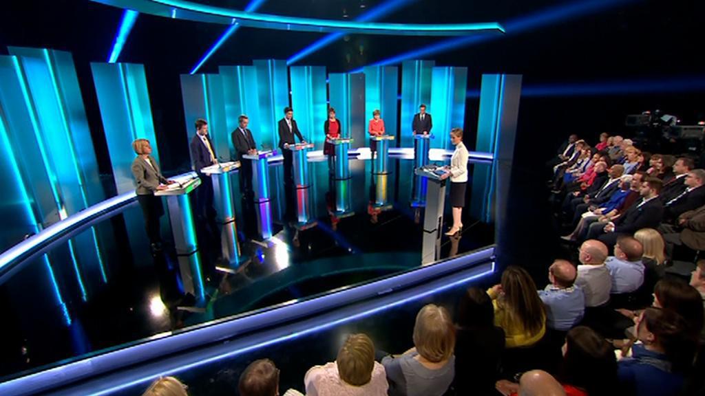Jediná televizní debata sedmi lídrů politických stran před britskými volbami
