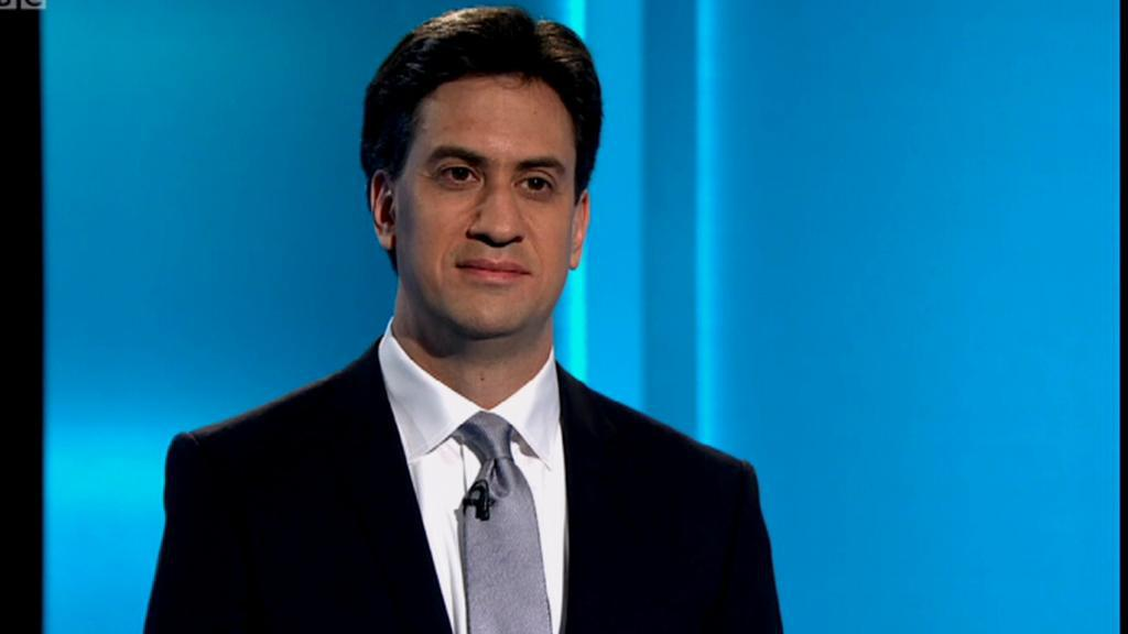 Ed Miliband (Labouristická strana) v televizní debatě