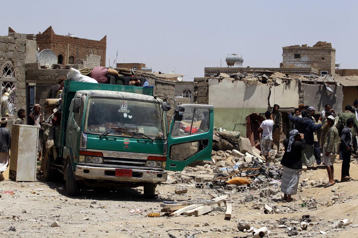 Jemen po bombardování