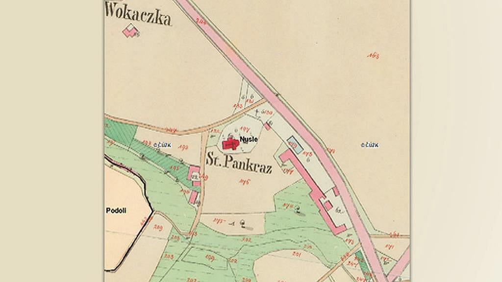 Pankrác na císařské mapě