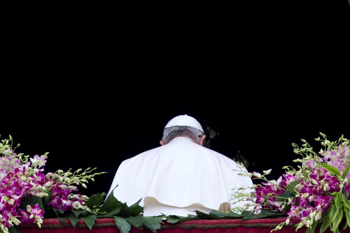 Papež František po poselství Urbi et Orbi