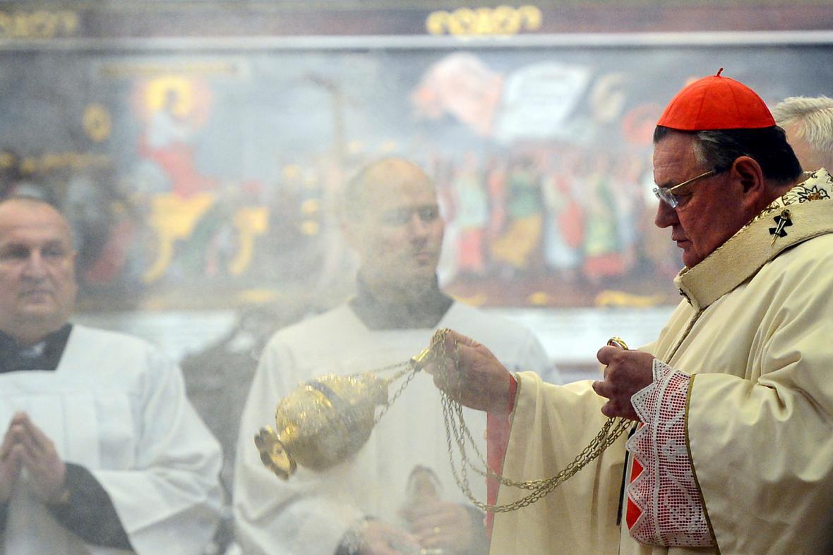 Kardinál Duka na Boží hod sloužil mši ve Svatovítské katedrále