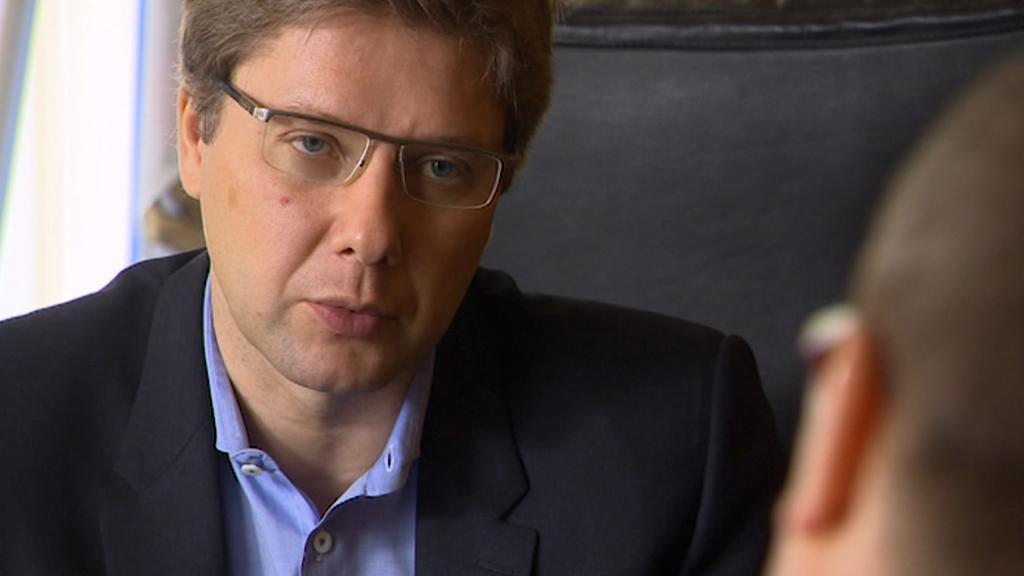 Starosta Rigy Nils Ušakovs, šéf nejsilnější ruské politické strany v Lotyšsku
