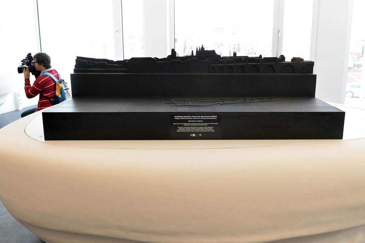Dotykový model Pražského hradu na EXPU 2015