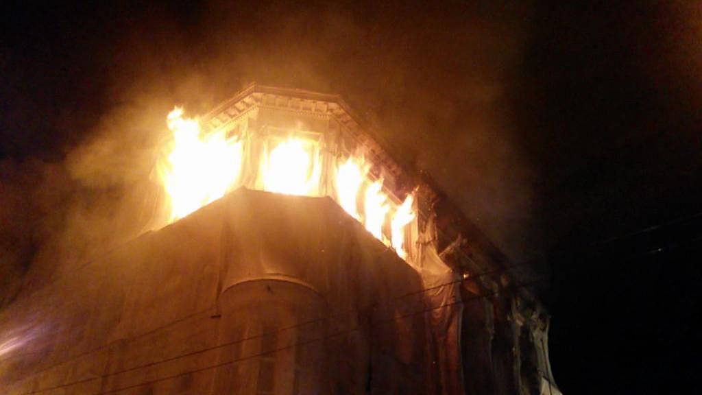 Požár hotelu Rozkvět - listopad 2014