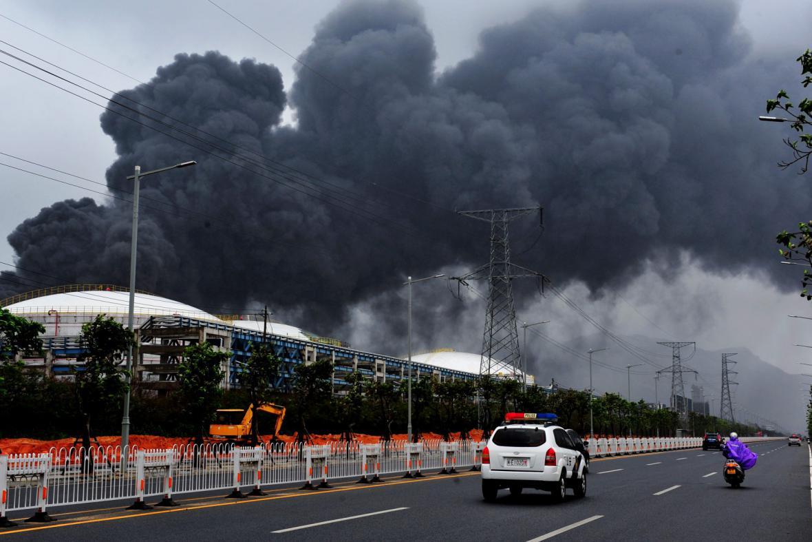 Exploze čínské chemičky