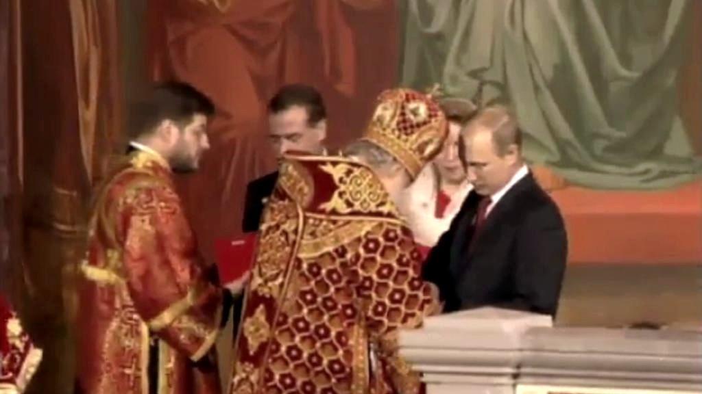 Vladimir Putin s církevními hodnostáři