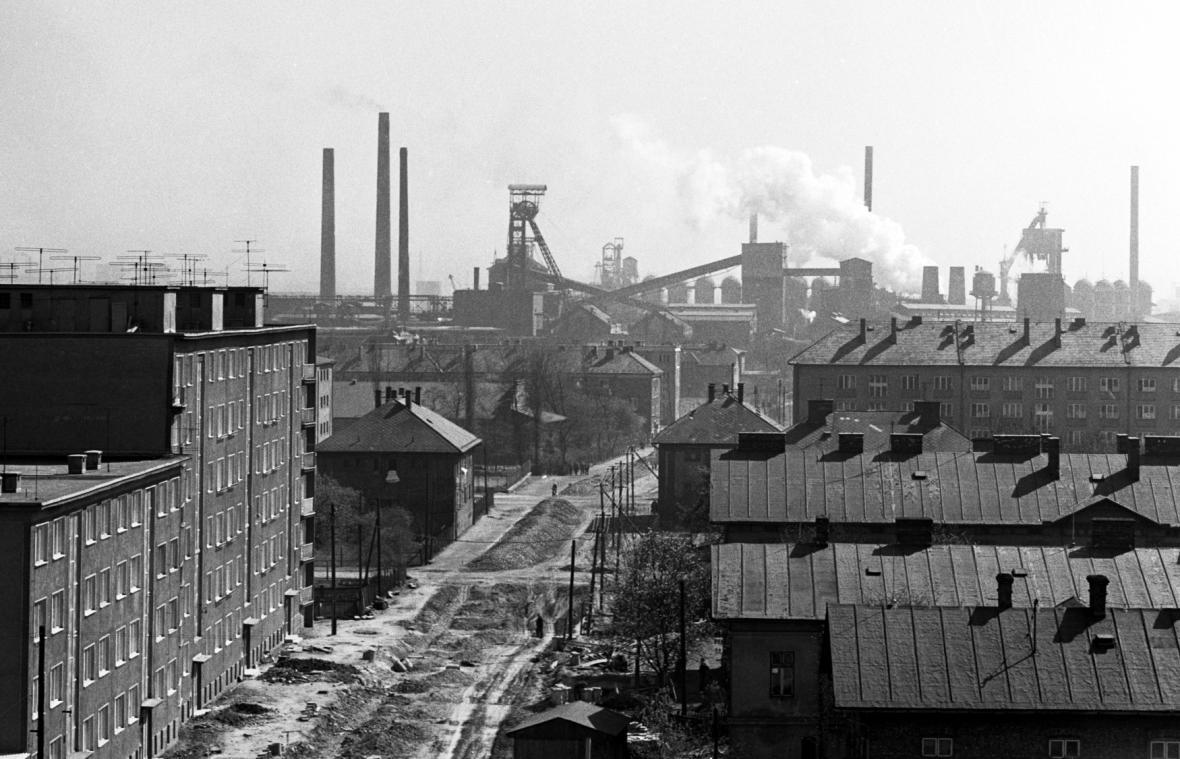 Důl Hlubina a okolí v roce 1961