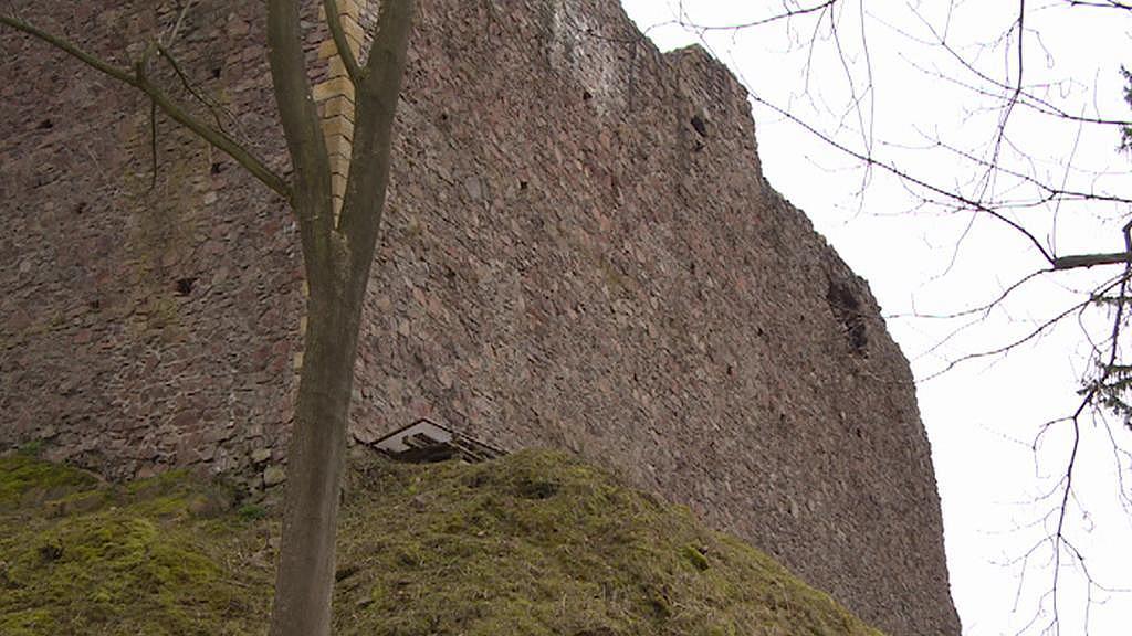 Zeď hradu Litice