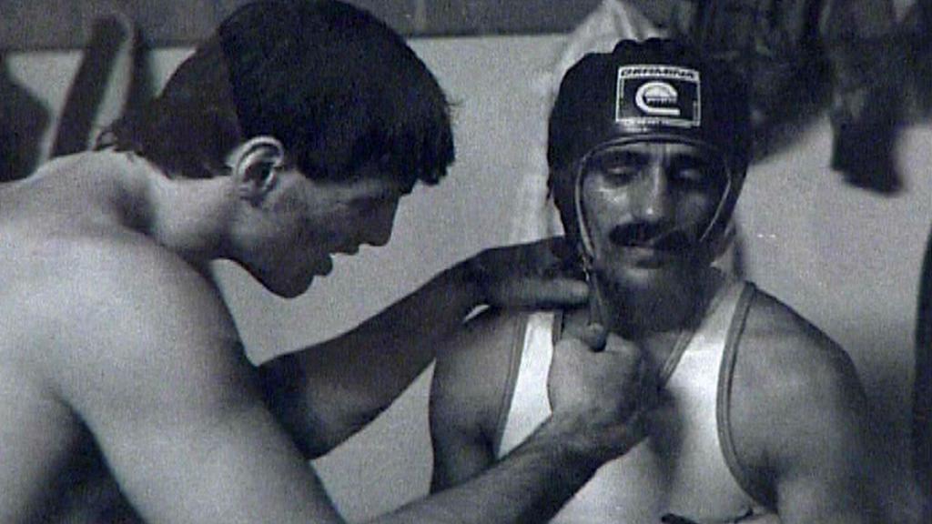 Archivní záběry z boxerské dráhy Stanislava Tišera