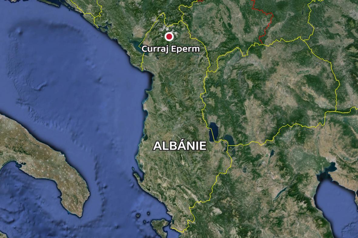 Albánská vesnice Curraj Eperm