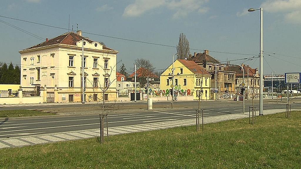 Stávající zástavba v místě, kde by měl vzniknout Office park