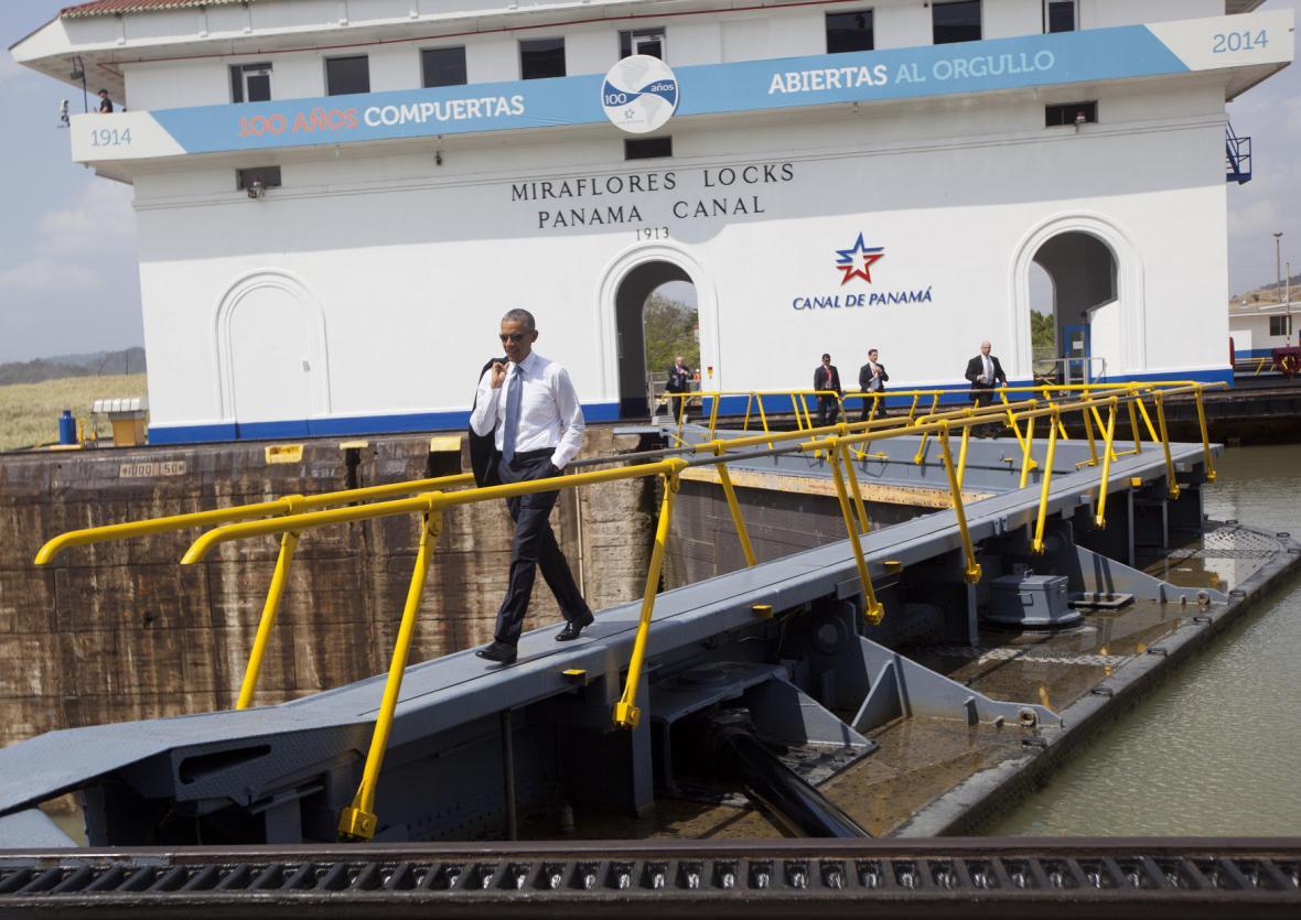 Obama v Panamě při příležitosti konání amerického summitu