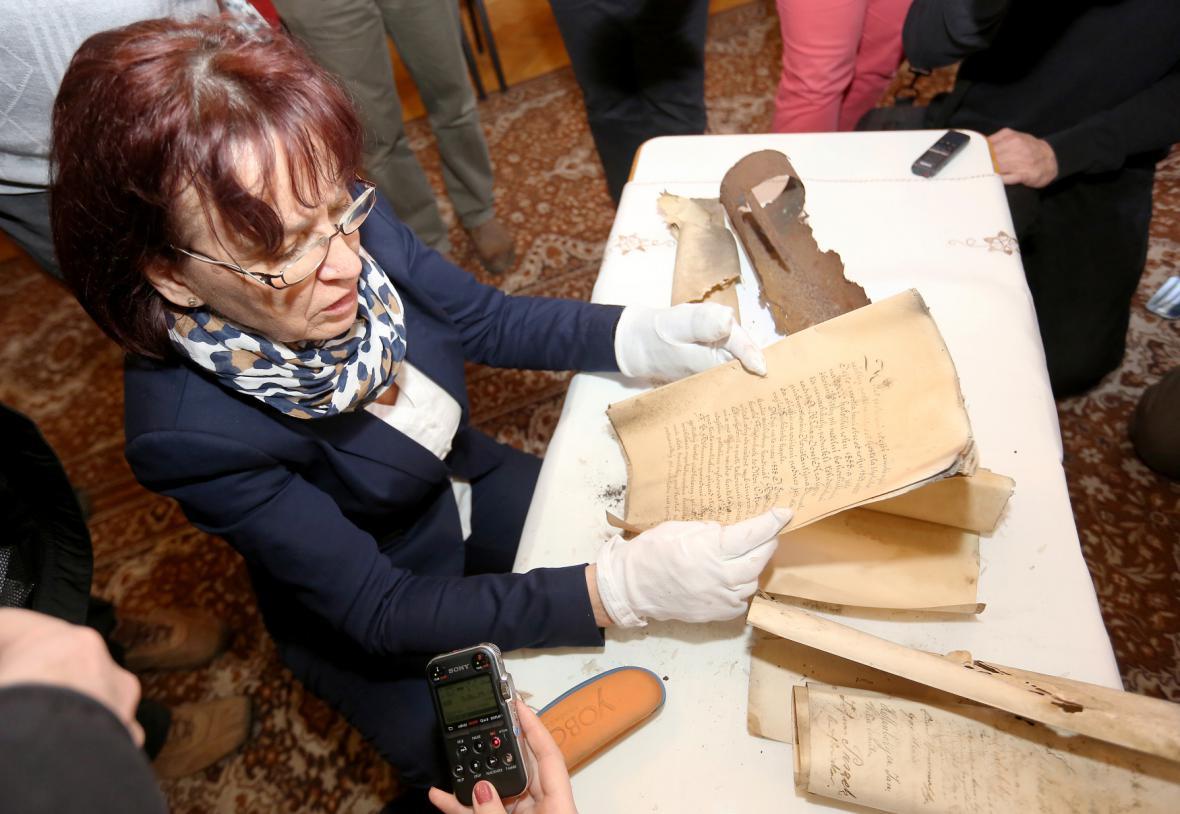 Dokument nalezený při rekonstrukci ostravské katedrály